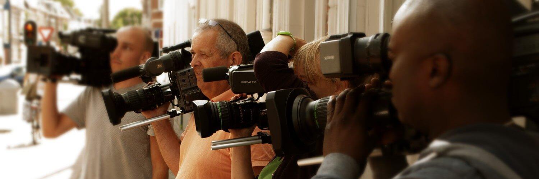 studenten Cameracollege luisteren naar Docent Camera